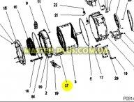 Активатор (ребро барабана) Zanussi 50294448001 для стиральной машины