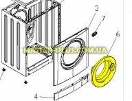 Дверка (люк)  Zanussi 50294502005 для стиральной машины