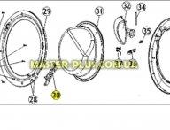 Завес (петля) дверки Zanussi 50294506006 для стиральной машины