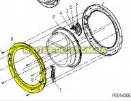 Обечайка дверки (наружная) Zanussi 50294511006  для стиральной машины