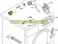 Клапан 2/180 на защелке Electrolux Zanussi AEG 50297055001 Original для стиральной машины
