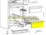 Передняя панель ящика морозильной камеры (среднего и нижнего) Zanussi 2063763052  для холодильника