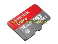 Карта памяти SANDISK 16GB microSDHC Class 10 UHS-I U3 (SDSQUNC-016G-GN6MA)