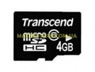Карта памяти 4Gb microSDHC class 6 Transcend (TS4GUSDHC6)