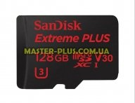 Карта памяти SANDISK 128GB microSDXC class 10 UHS-I 4K Extreme Plus (SDSQXWG-128G-GN6MA) для компьютера