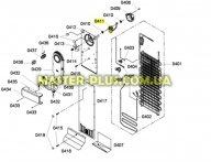 Двигатель вентилятора обдува морозильной камеры Bosch Siemens 601067 для холодильника