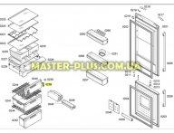 Крепеж передней панели морозильного отделения Bosch 607910