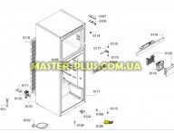 Петля (кронштейн) нижняя левая двери для Холодильника Bosch Siemens 622590