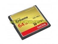 Карта памяти SANDISK 64Gb Compact Flash Extreme (SDCFXSB-064G-G46)