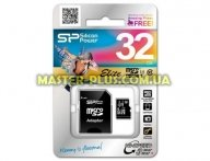 Карта памяти Silicon Power 32Gb microSDHC class 10 (SP032GBSTHBU1V10-SP) для компьютера