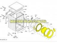 Дверка люка в сборе Bosch 704287 для стиральной машины