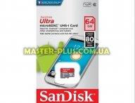 Карта памяти SANDISK 64GB microSD class 10 UHS-I Ultra (SDSQUNC-064G-GN3MN)