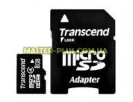 Карта памяти 8Gb microSDHC class 4 Transcend (TS8GUSDHC4)