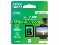 Карта памяти GOODRAM 64GB microSD class 10 USH-I U3 (M3AA-0640R11-DD)