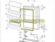 Резина уплотнительная на холодильную камеру Electrolux 959002551 для холодильника