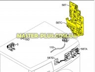 Модуль (плата) Electrolux 973914339001005 для стиральной машины