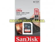 Карта памяти SANDISK 16GB SDHC Class 10 UHS-I (SDSDUNB-016G-GN3IN)