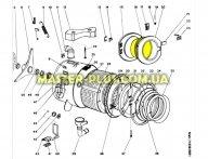 Скло дверцят (люка) Indesit C00021880 для пральної машини