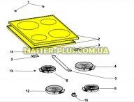 Стеклокерамическая поверхность для плиты Indesit C00118134