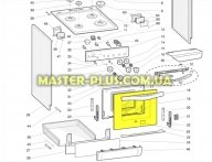 Стекло дверцы духовки (наружное) Indesit C00144160