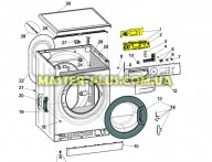 Модуль (плата індикації) Indesit C00286762 для пральної машини