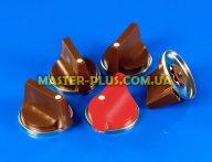 Комплект коричневых ручек для плиты Брест