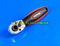 """Тріскачка 1/4"""" 72 зубця з бітотримачем Yato YT-0331 для ручного інструмента"""