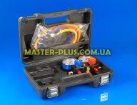 Манометрический двухвентильный коллектор под R410a со шлангами (в чемодане)