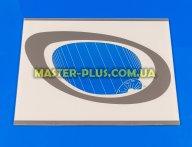 Наружное стекло для плиты GRETA 498х384мм (белое с овалом)