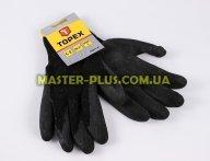 Перчатки рабочие, хлопчатобумажные + полиэстер с латексным покрытием, бесшовные (размер 10.5) TOPEX 83S213