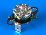 Термостат KSD301 100°C 250V 10A (клеммы перпендикулярно пластине крепления)