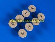 Комплект роликов (колес) корзины для посудомоечной машины совместимый с Electrolux 50286965004