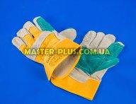 Перчатки рабочие спилковые с хлопковой подкладкой и двойным наладонником