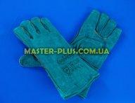 Перчатки сварщика (краги) зеленные с флисовой подкладкой