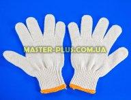 Перчатки трикотажные белые без ПВХ точек (7 класс, 7 ниток)