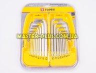 Шестигранники 1.5-10мм и ключи Torx T10-T50, набор 18шт TOPEX 35D953