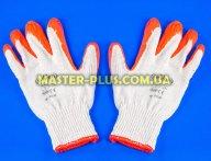 Перчатки трикотажные белые с красным латексным покрытием