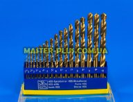 Набір свердел по металу 1.0-10.0мм з титановим покриттям, 19шт Sigma 1214091 для ручного інструмента