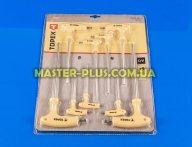 Звездообразные ключи Torx T10-T50 с рукояткой, набор 9шт TOPEX 35D968