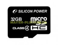 Карта памяти Silicon Power 32Gb microSDHC class 4 (SP032GBSTH004V10)