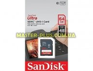 Карта памяти SANDISK 64GB SDXC class 10 UHS-I Ultra (SDSDUNB-064G-GN3IN) для компьютера