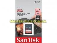 Карта памяти SANDISK 64GB SDXC class 10 UHS-I Ultra (SDSDUNB-064G-GN3IN) для компьютера