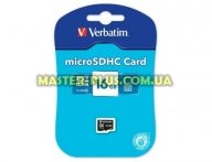 Карта памяти Verbatim 16GB microSDHC class 4 (44007) для компьютера