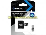 Карта памяти Pretec 32GB microSDHC class 10 UHS-I (STSH32G-SA) для компьютера