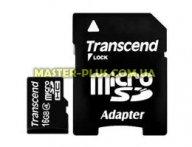 Карта памяти 16Gb microSDHC class 4 Transcend (TS16GUSDHC4)