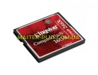Карта памяти Kingston Compact Flash Card 16GB 266x (CF/16GB-U2) для компьютера