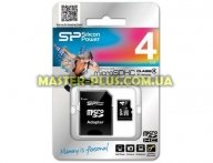 Карта памяти Silicon Power 4Gb microSDHC class 4 (SP004GBSTH004V10SP)