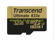 Карта памяти Transcend 32GB microSD Class10 UHS-I U3 (TS32GUSDU3)