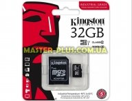Карта памяти Kingston 32GB microSD class 10 UHS-I Industrial (SDCIT/32GB) для компьютера