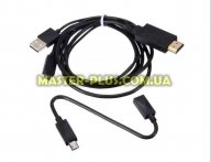 Переходник MHL Micro USB 5Pin & 11Pin to HDMI Dynamode (MHL-HDMI-UNI black)